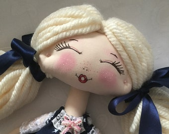 Handmade Doll for Girls, Handmade Doll, Cloth Doll, Tilda Doll, Decorative Doll, Fabric Doll, Child Room Decoration, Rag Doll, Princess Doll