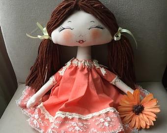Handmade Doll, For Girls, Nursery Decor, Cloth Doll, Tilda Doll, Decorative Doll, Girl Toys, Fabric Doll, Child Room Decoration, Rag Doll,