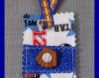 Bookmarks - Stocking Stuffers - Gift Bookmark - Handmade -  Bookworm Gift- Children's bookmark- Fabric Bookmark - Sports bookmark - Handmade