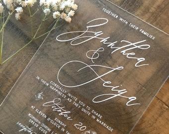 Plexiglass Wedding Invitations Sample Personalized Luxury Customized