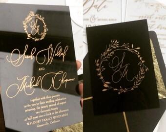 Acrylic Invitation Etsy