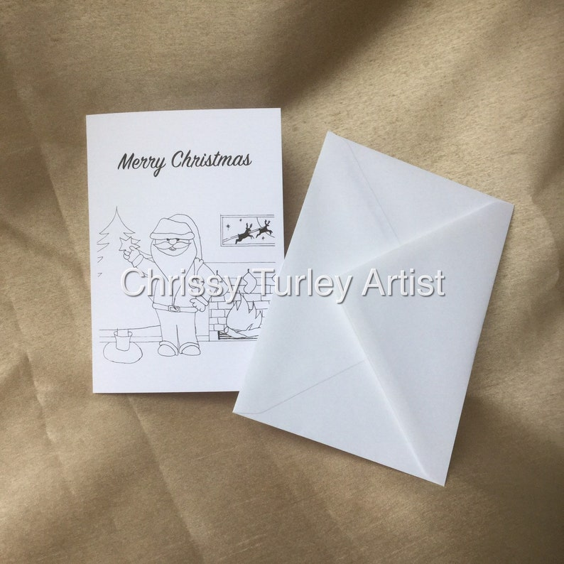 Paint or colour your own Christmas Cards Greeting Cards image 0