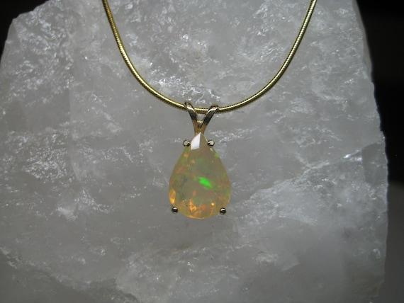 Ethiopian Opal Pendant in Sterling Silver \u2022 Handmade Pendant \u2022 Opal Necklace \u2022 Christmas Opal \u2022 Opal Pendant