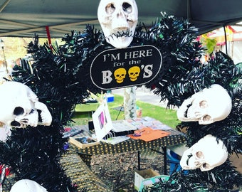 Free shipping handmade halloween wreaths