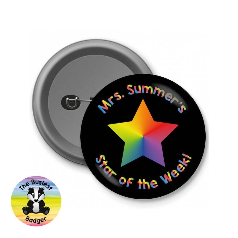 Custom Star Award Badges, Star of the Week Badges, School Badges, Teacher  Badges, Custom Button Badges, Personalised Badges, Charity Badges