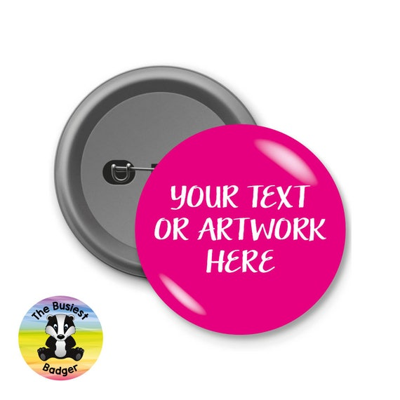 Custom badge-Personalised-hen-stag-band-logo-pin badges-party-wedding-printed