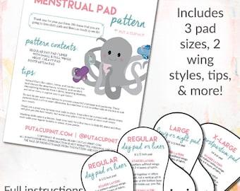 Cloth Menstrual Pad Pattern PDF Download