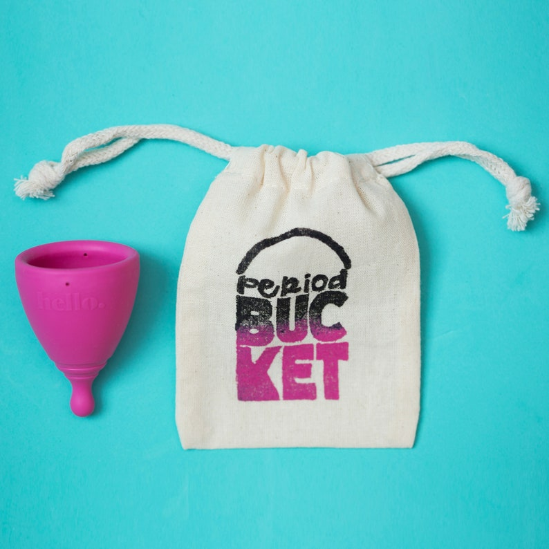Period Bucket Menstrual Cup Pouch image 0