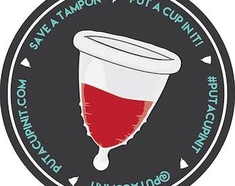 Menstrual Cup Advocacy Sticker