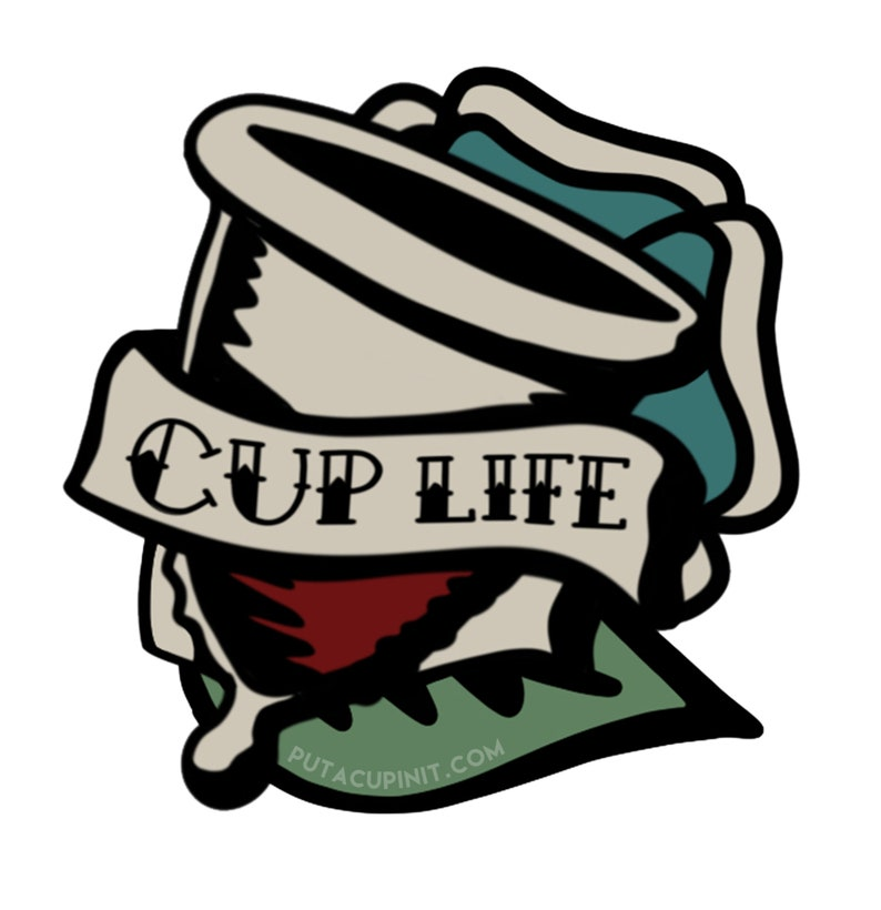 Cup Life Menstrual Cup Advocacy Sticker image 0