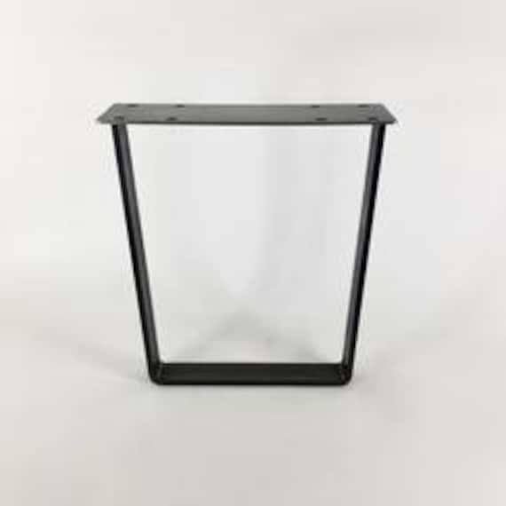 Peachy Flat Bar Leg Set Of 2 Mid Century Modern Diy Metal Table Leg Ncnpc Chair Design For Home Ncnpcorg