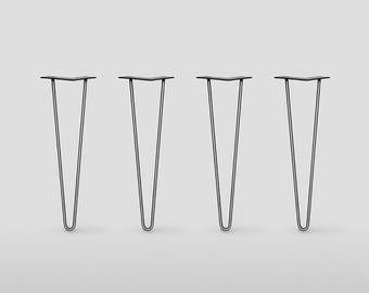 "1/2"" HD Hairpin Legs, Set of 4, Stainless Steel,  Mid Century Modern , DIY, Metal Table Legs, Hairpin legs"