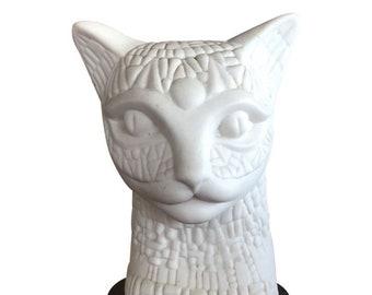 Amazing Sascha Brastoff Cat Head Bust *Look*