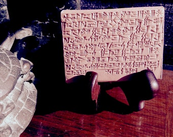 The Turtle's Origin Story: Expertly Handcrafted Ancient Sumerian Cuneiform Ritual on a Clay Tablet