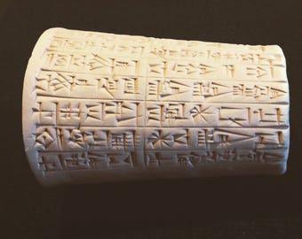 King Hammurabi Half-Barrel Inscription