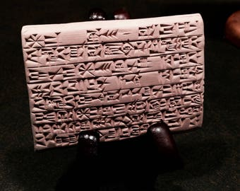 Gilgamesh, Live Life to the Fullest! (A Bartender's Advice at the Edge of the World): Clay Tablet With a Passage from the Epic of Gilgamesh
