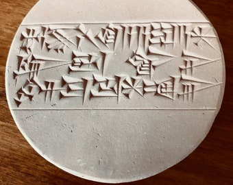 Fate is a Slippery Bank that Makes One Slip: Handmade Replica of a Sumerian Proverb on a Clay Tablet
