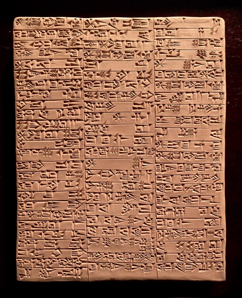 Praise of King Lipit-Ishtar Ancient Decor Sumerian Cuneiform Clay Tablet Ancient Champion of Justice