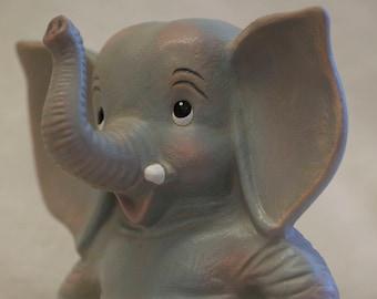 Hand-Painted Ceramic Elephant Figurine