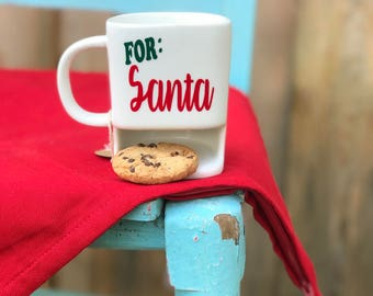 Cookies for Santa ChristmasMug, Cookies and Milk Mug, Milk and Cookies for Santa, Cookies for Santa, Santa Mug