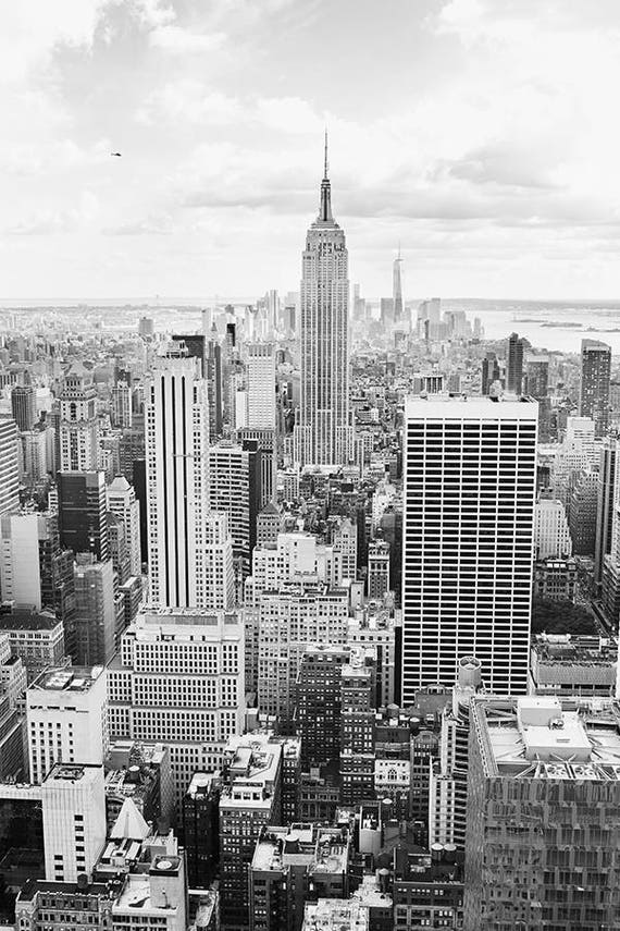 Manhattan Photography Manhattan Wall Art Manhattan Photo Print Black White New York New York Skyline Print