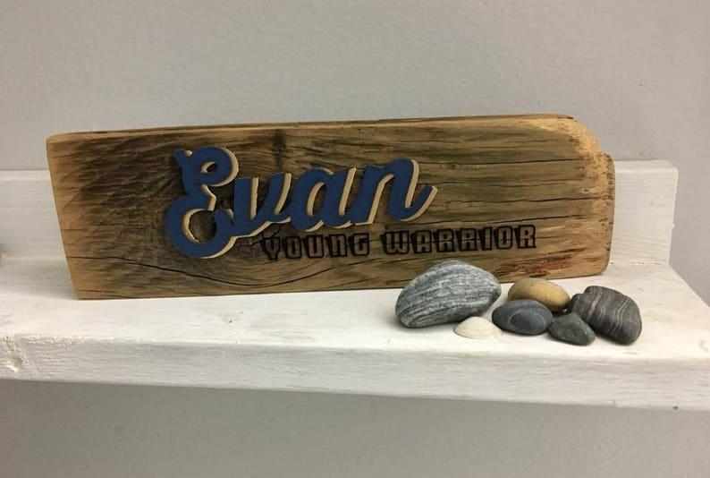 Customized Laser Cut Reclaimed Wood Word Art Name & Name image 0