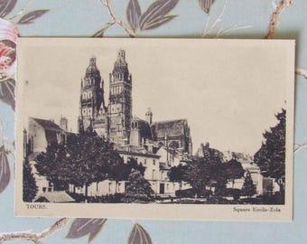 Postcard - France - Tours - Square Emile-Zola