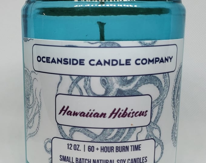 Hawaiian Hibiscus - 12 oz Soy Candle