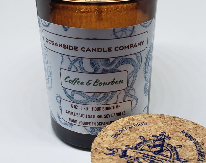 Coffee & Bourbon - 6 oz Soy Candle
