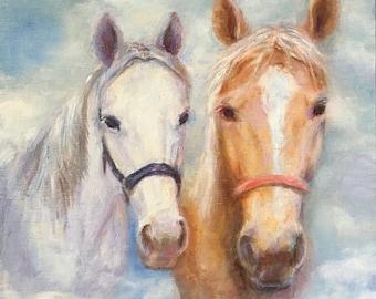 Custom Horse Paintings, Portrait from Photo, Horse Portraits, In Loving Memory of, Photo Painting, Horse Portrait, Animal Paintings,