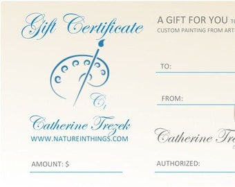 Gift Certificate for Oil Paintings Available, A Unique Gift Idea, Paintings from Photos, Custom Paintings and Portraits