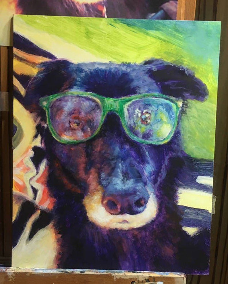 Expressive Dog Paintings from Your Photo Custom Pet image 0