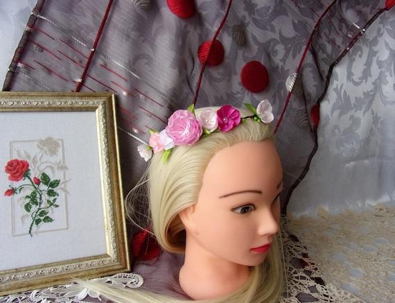 Couronne De Fleurs Mariage Champetre Couronne Fleurie Etsy
