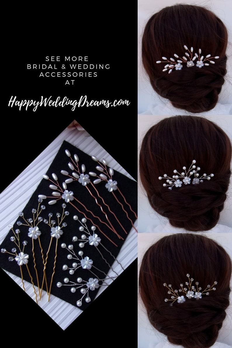 Bridesmaids hair jewelry EP0030-2 Pearl or crystal Wedding hair pins Bridal hair piece Bridal hair pins