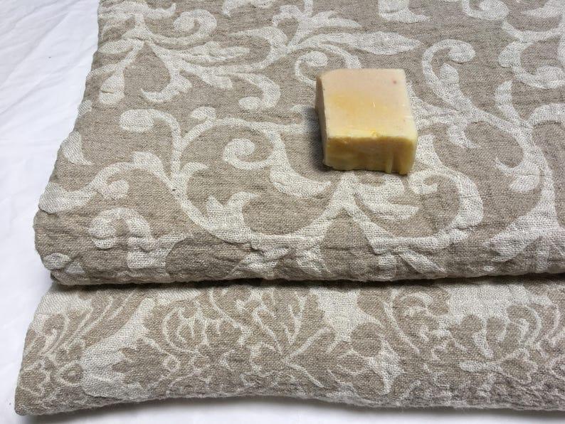 Thick Double Woven Jacquard Linen Bath Towel Linen Bath Etsy
