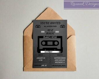 Cassette Tape Invitation Etsy