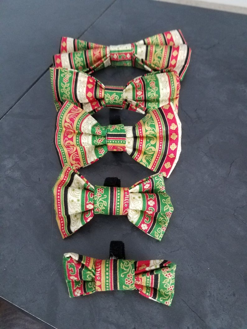 Christmas Present dog bow tie