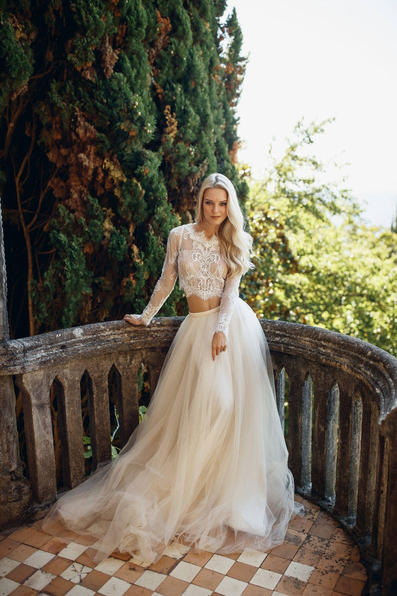 d24eff7570 Wedding dress unique wedding gown champagne dresssexy
