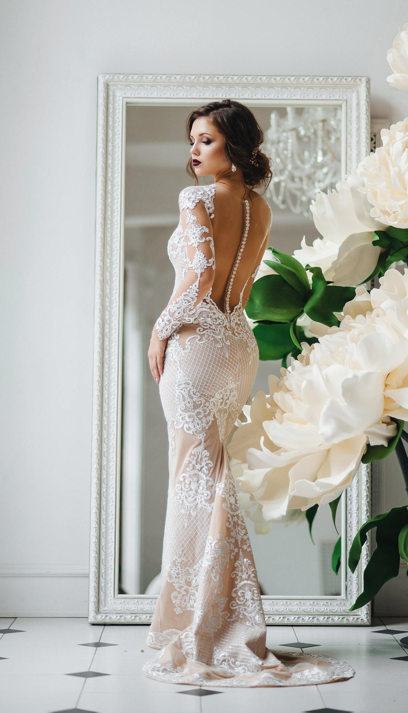 e5363b94502 Wedding dress unique wedding gown champagne dresssexy
