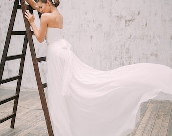 Wedding dress Romantic Wedding Dress elegant wedding gown A line wedding dress