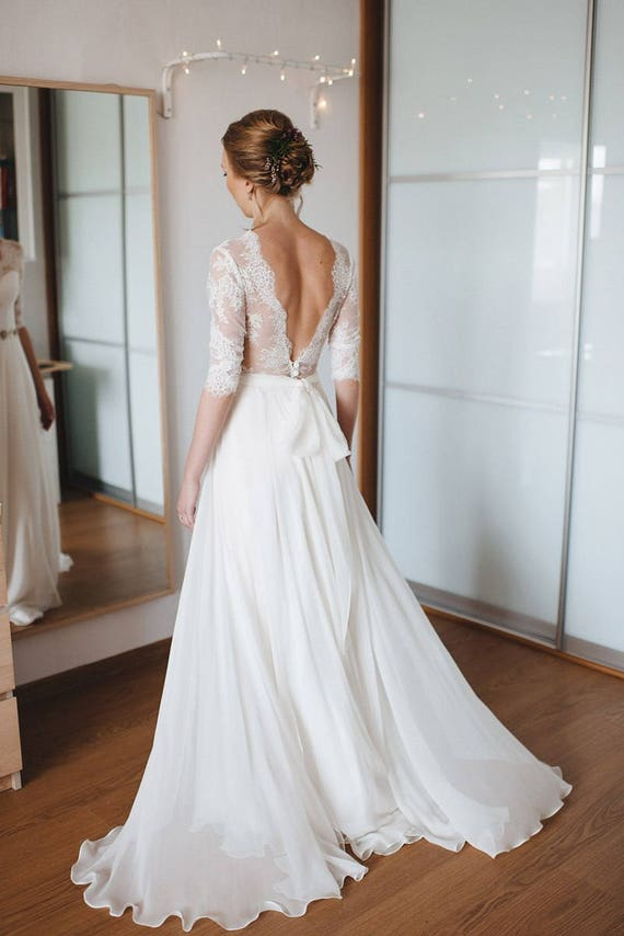 A Line Wedding Dress A Line Style Simple Wedding Dress Simple Style Romantic Dress Romantic Bridal Gown Elegant Wedding