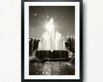 Fontana Cairoli, Milano, Piazza Castello, poster digitale