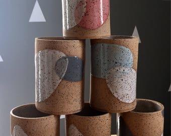 Abstract Ceramic Tumbler