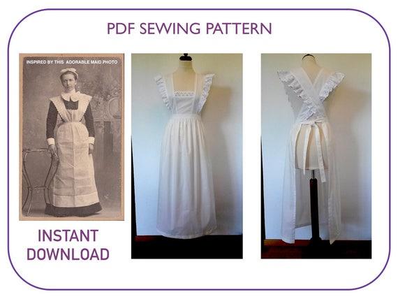 & Pinafore Apron pattern Adult sizes PDF pattern tutorial