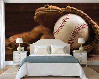 Merveilleux Sport Wall Decal, Baseball Wall Mural, Wallpaper Baseball Glove, Baseball  Glove Wall Decal