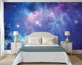 Space Wallpaper, Wall Decal Constellation, Wall Mural Galaxy, Stars  Wallpaper, Wall Mural Of Space