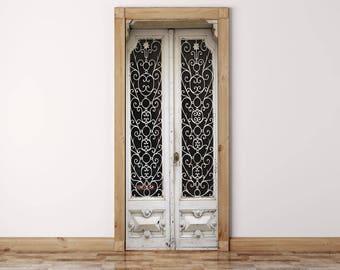 Rustic Door Decal, Peel And Stick, Vinyl Door Sticker, Self-adhesive Decor, Door Decal, Self Adhesive Door Decal, Self Adhesive Wallpaper