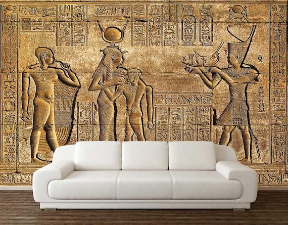 Wall Art Wallpaper Mural Egypt Gold