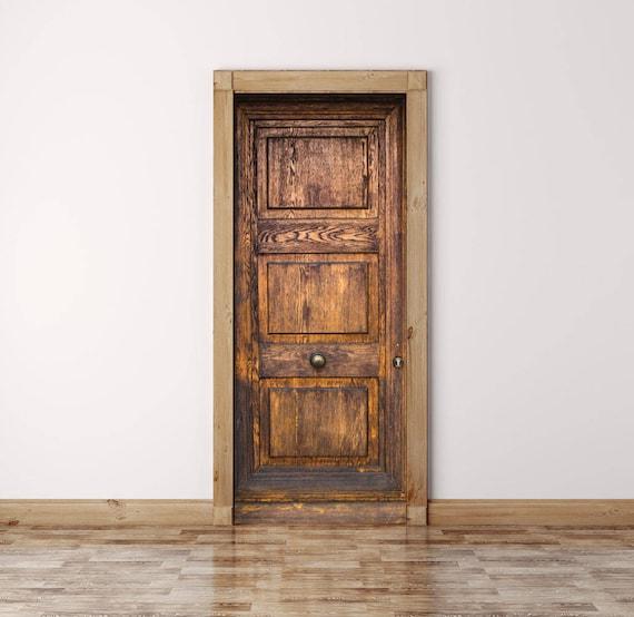 Vintage Door Decal Peel And Stick Vinyl Door Sticker Etsy