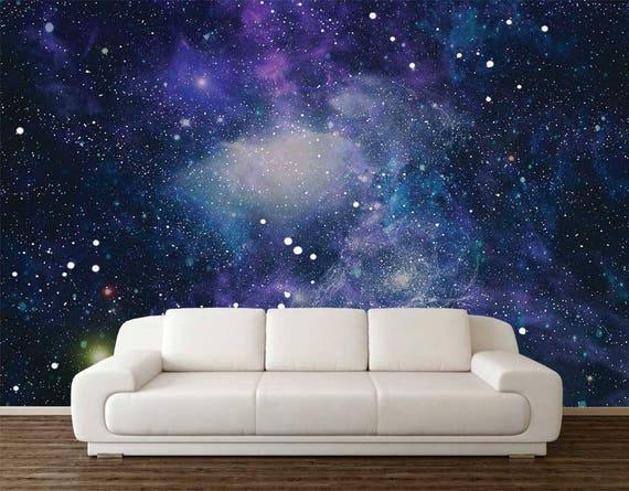 Space Wallpaper Wall Mural Stars Planets Wallpaper Wall